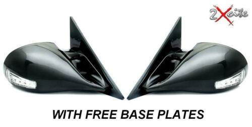 BLACK M3 ELECTRIC DOOR WING MIRRORS AUDI A6 1997-2004 WITH BASES LED INDICATORS