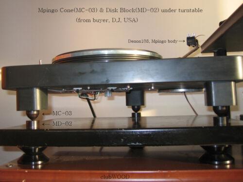 Ebony feet base Mpingo Cone High-end audio Amp CDP Turntable Isolator clubWOOD