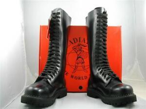 Emo in Skinhead in Occhielli 20 Gladiator Stivali British Goth Made puntale acciaio con pelle wpqFWTx4