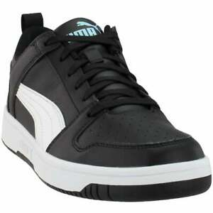 Puma-Rebound-Layup-Lo-Sl-Lace-Up-Mens-Sneakers-Shoes-Casual-Black