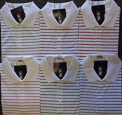 MENS ADIDAS S//S WHITE BASED MERCHANDISING STRIPE POLO SHIRT PICK COLOR /& SIZE