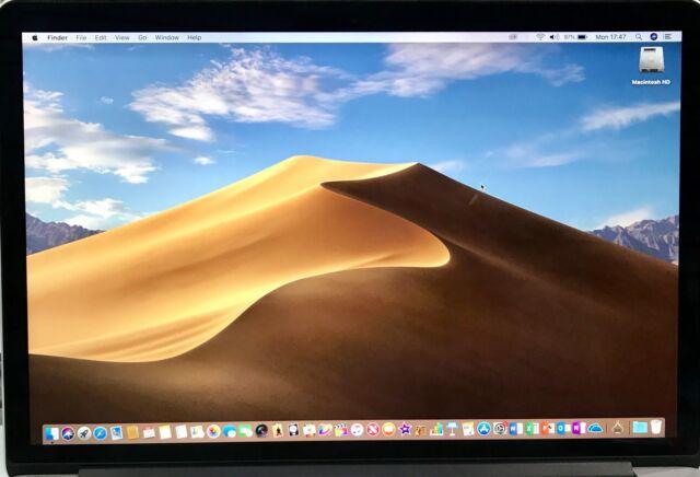 "Apple MacBook Pro Retina 15 ""(2014) Intel Core i7 2.2GHz 16GB Ram 256 SSD A1398"