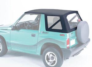 Das Bild Wird Geladen Ersatzverdeck Schwarz Suzuki Vitara 88 04 Softtop Verdeck