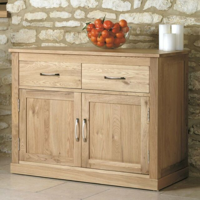 mobel solid oak living dining room furniture small two door two drawer sideboard