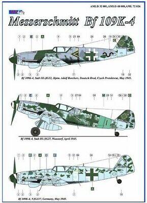Aml Decals 1/32 Messerschmitt Bf-109k-4 Con Resina Ruote #d3201