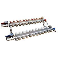 11 Branch Pex Radiant Floor Heating Manifold Set For 12 Pex
