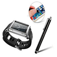 Cool Aluminum Watch Band Wrist Band Bracelet Cover Case for Apple iPod Nano 6