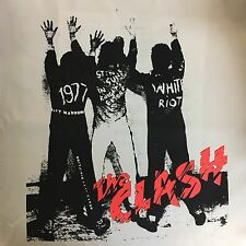 The Clash Punk Band Back Patch London Calling Pink 1977 Joe Strummer White Riot