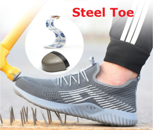 MENS WOMENS LIGHTWEIGHT WORK STEEL TOE CAP SAFETY BOOTS SHOES LADIES TRAINERS SD
