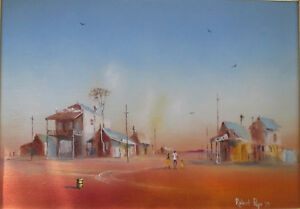 Robert-David-Pope-Oil-on-canvas-24-x-34cm-The-Country-Town