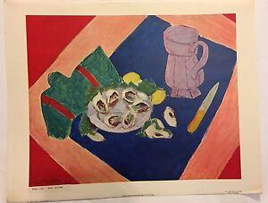 Image Is Loading Henri Matisse Vintage Large Abrams Color Print Printed