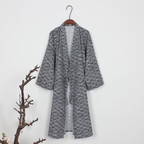 Men/'s Japanese Bathrobe Kimono Pajamas Dressing Gowns Robe Sleepwear Cardigan