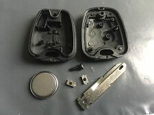 Repair KIT for Peugeot 206 2 button remote key shell case switches & battery DIY