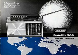 Instructions-User-Manual-with-Scheme-Grundig-Satellite-208-Transistor-6000
