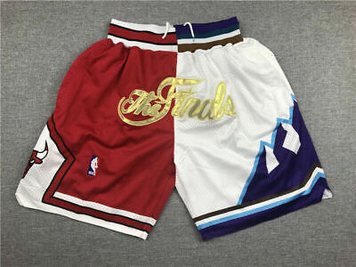 Retro 1997 Finals Chicago Bulls Shorts Herren Stitched Basketball Shorts Hose DE