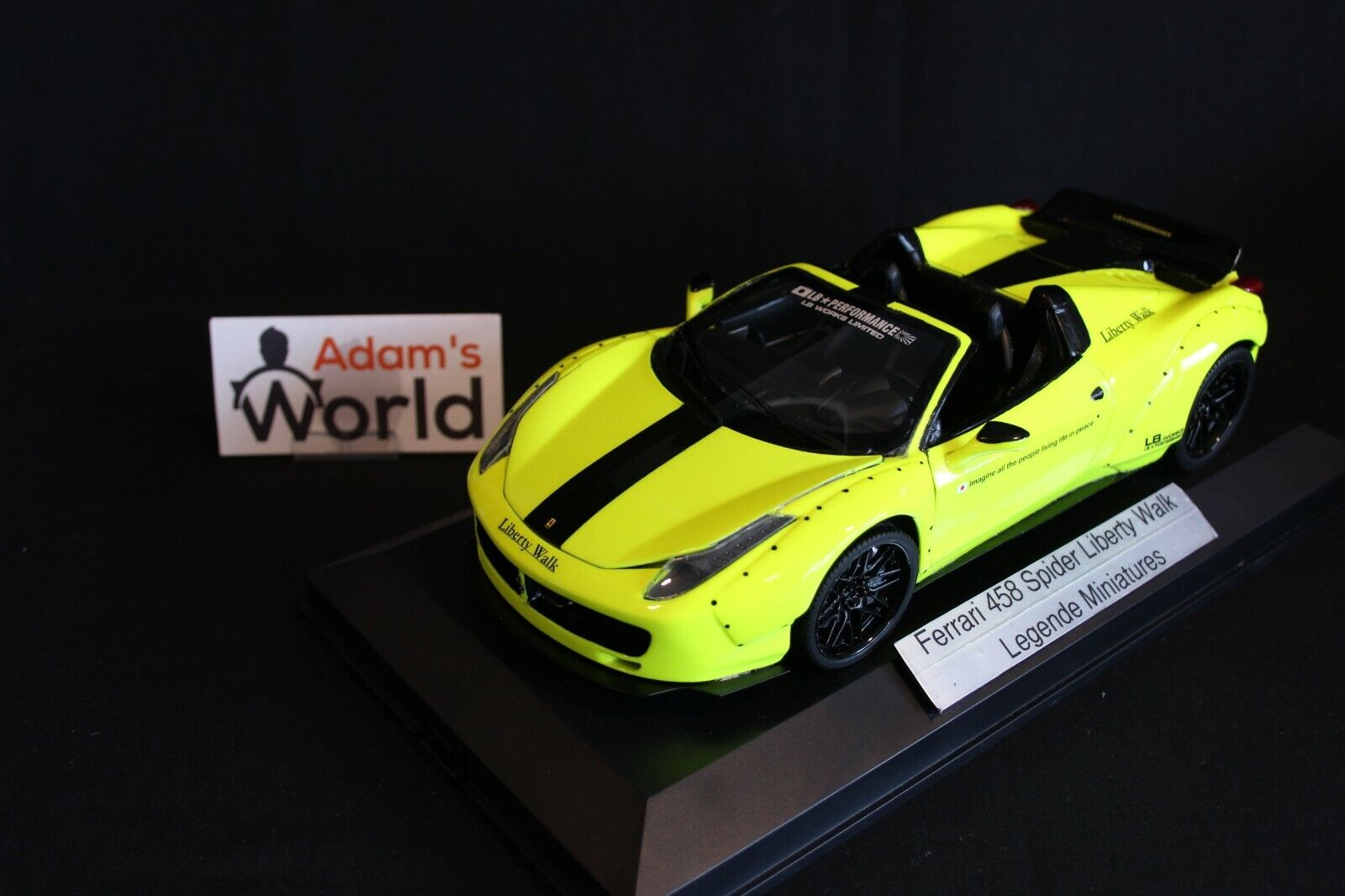 Legende Miniatures built transkit Ferrari 458 Spider 1 18 Liberty Walk (PJBB)