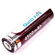 1 x QULIT FIRE Lithium Ionen Akku 4500 mAh / 9,6 Wh / 3,7 V Typ 18650 Li  - ion