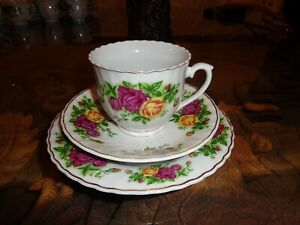 Beautiful-Trade-Winds-Tableware-Trio-Cup-Saucer-Side-Plate-ROSES