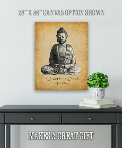 Great Funny Gift Don/'t Be a Dick Choose Unframed Poster or Canvas Poster