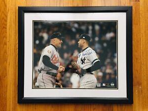 Derek Jeter Signed Autograph Photo 16x20 Steiner COA (Cal Ripken Jr.)