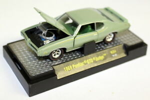 M2-Machines-1-64-SCALA-R34-1969-Pontiac-Gto-Judge-Verde-Modello-Diecast-Auto