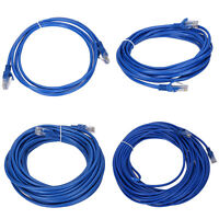 2M 5M 10M 20M RJ45 CAT5 CAT5E Ethernet LAN Network Patch Cable Cord UTP Blue