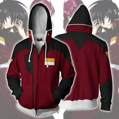 Gundam Destiny SEED ZAFT Anime Hoodie Jacket Hooded Sweatshirt Sweater Red Coat