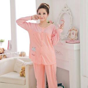 313e0ded25392 Details about Women Comfy Pregnant Loungewear Maternity Pajama Set Feeding  Nursing Sleepwear