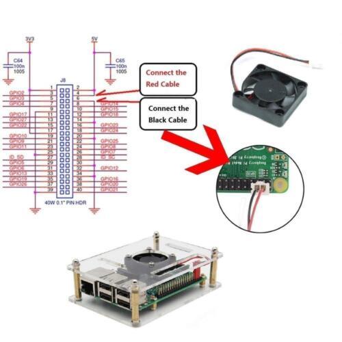 iUniker Raspberry Pi 4 Case 4b Case with Fan Fan...
