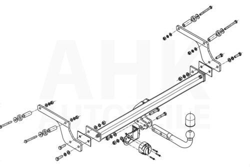 Für Dacia Duster I FL 2WD//4WD 13-17 Anhängerkupplung starr+E-Satz 13p spez