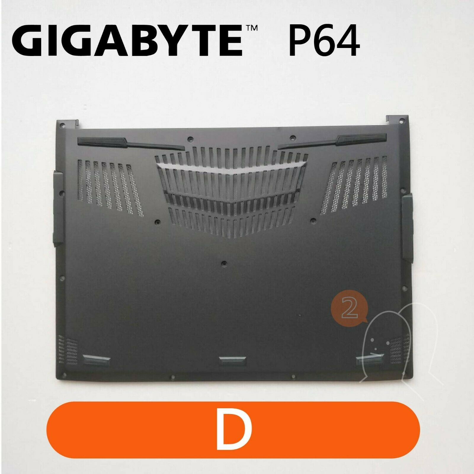 【2p3c】Replacement for GIGABYTE P64 Laptop LCD Cover : D(Bottom Base)