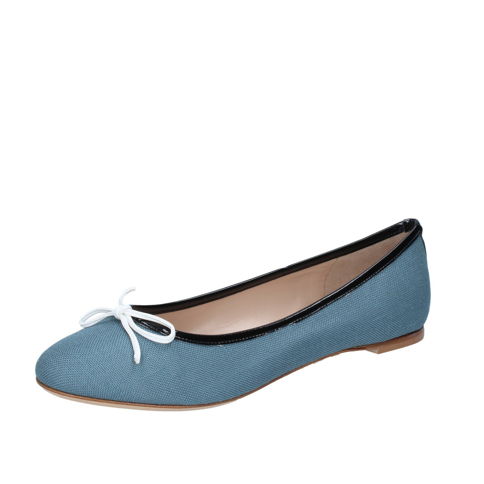 Womens shoes 18 KT 5 (EU 38) flats green oil textile BS164-38