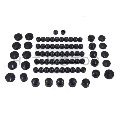 77 Piece Black Caps Cover Kit for 04-15 Harley Sportster Engine /& Misc Bolt Nut