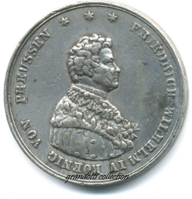 FEDERICO GUGLIELMO IV DI PRUSSIA MEDAGLIA INCORONAZIONE 1840