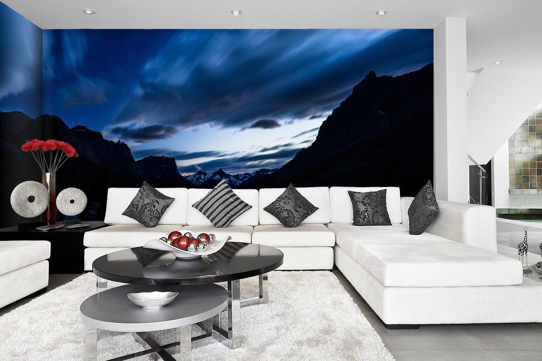 3D Dunkle Wolken Berg 893 Tapete Wandgemälde Tapeten Bild Familie DE Lemon