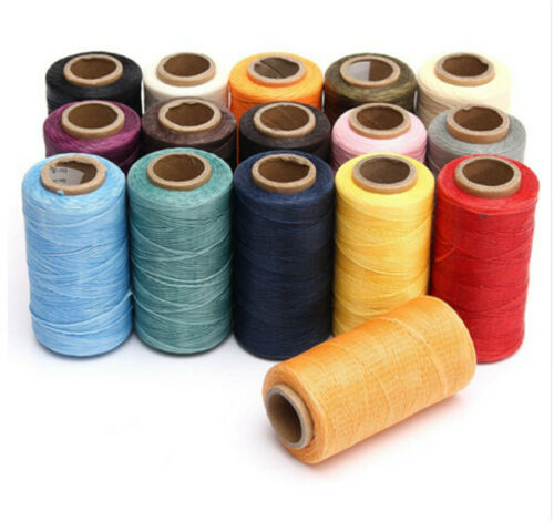Sewing wax thread 260M 150D 1mm hand stitching for leather DIY craft tool manual