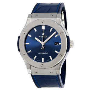 Hublot Classic Fusion Automatic Blue Sunray Dial Titanium Men's Watch