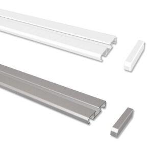 Gardinenschiene Vorhangschiene Aus Aluminium Weiß O Alufarbig 1