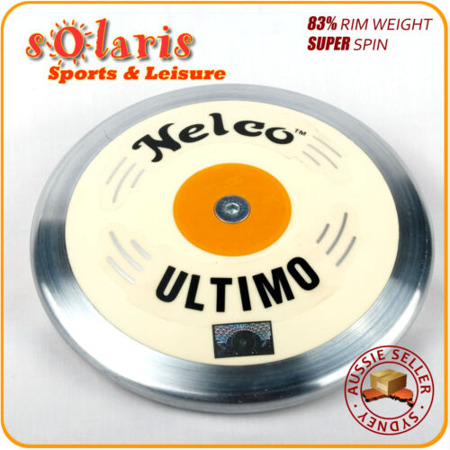 Nelco Ultimo White Super Spin Discus 83/% Rim Weight Stainless Steel Rim