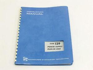 Tektronix 070-409 129 Power Supply Plug In Instruction Manual