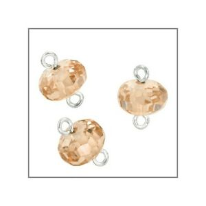 CZ-Silver-Rondelle-Beads-Connector-6mm-Champagne-51569