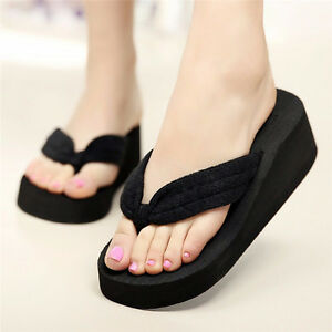 6653ed8e350ac Image is loading Summer-Soft-Women-Wedge-Sandals-Heels-Platform-Beach-