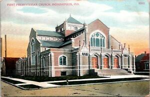 First-Presbyterian-Church-Indianapolis-Indiana-Postcard