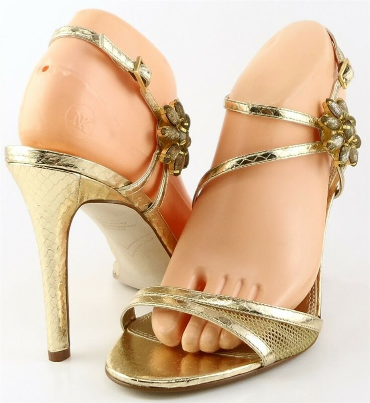 $ 90 Enzo Angiolini Meredyth Oro Chiaro Designer Sandali Da Sera Da Sposa 8 M