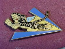 ORIGINAL WWII RARE AVG FLYING TIGERS INSIGNIA BADGE PIN BY W&H