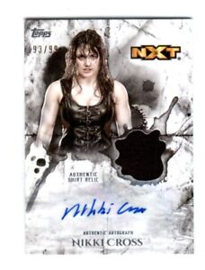 WWE-Nikki-Cross-2018-Topps-Undisputed-Autograph-Relic-Card-SN-93-of-99