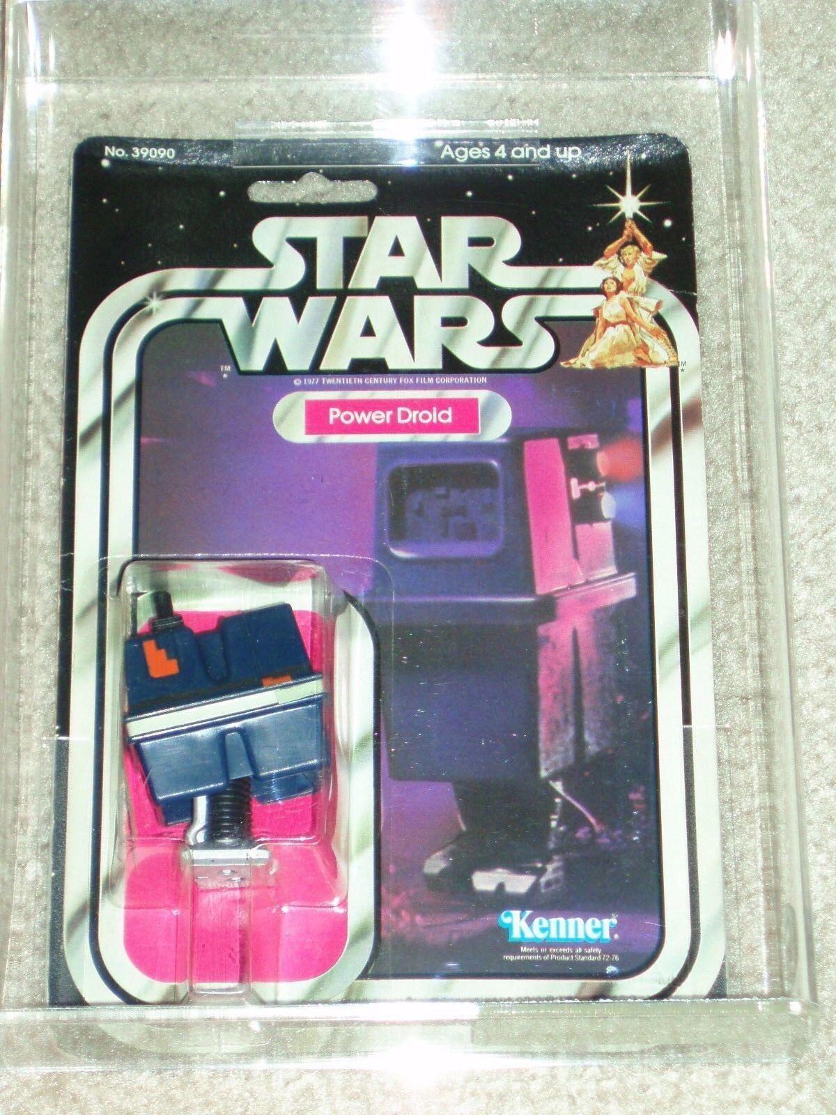 De colección colección colección Guerra de las galaxias KENNER 1979 potencia Droid UKG autoridad Figura de Acción 80 una nueva esperanza 21 menta en tarjeta CLR Burbuja  Más asequible