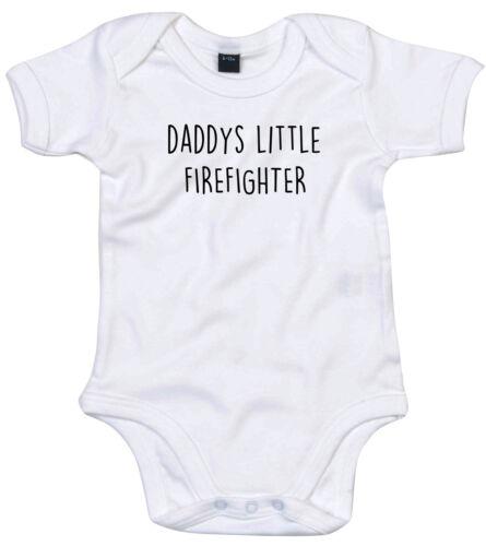 Traje de bombero Cuerpo Regalo Personalizado Papi está pequeño bebé crezca