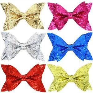 Bling-Shiny-Bow-Knot-Hairpin-Baby-Hair-Clip-Sequined