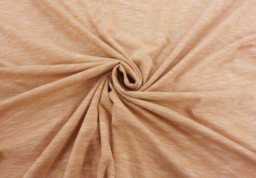 Habría Ovillada jaspeado orgánico 100/% Algodón Jersey Confección Tela De Punto Elástico